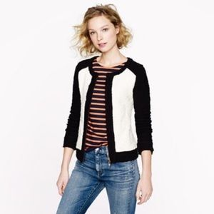 J. CREW - boucle two tone sweater